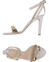 Chloé Beige Sandals - Lyst