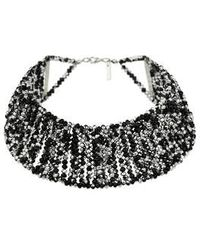 Topshop Multi-row Beaded Choker - Lyst