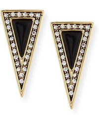 House of Harlow 1960 - Acute Triangle Crystal Stud Earrings - Lyst