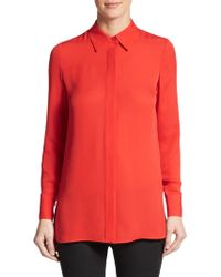 Vince Silk Georgette Shirt - Lyst