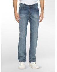 Calvin Klein | Jeans Straight Leg Chalked Indigo Wash Jeans | Lyst