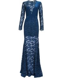 Femme D'armes | teal Long Sleeve Niko Lace Gown | Lyst