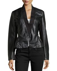 Bagatelle Knit & Faux-Leather Jacket - Lyst