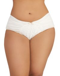 ModCloth - Just As Sweet Undies in Cloud Plus Size - Lyst