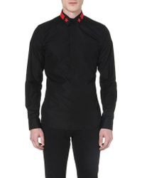 Givenchy Star Stripecollar Shirt Blackred - Lyst