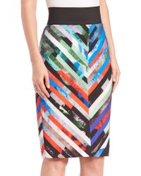 Milly | Mirage Striped Skirt | Lyst