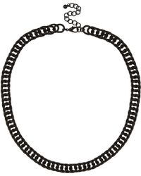 River Island Black Matte Chunky Chain Necklace - Lyst