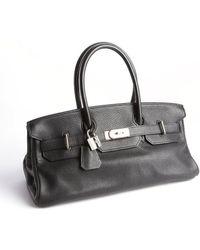 Hermès Preowned Birkin Jpg Black/Silver 42Cm black - Lyst