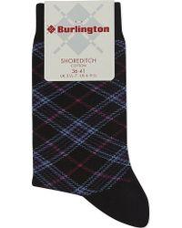 Smythson - Shoreditch Tartan Socks - Lyst