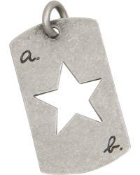 Barneys New York - Silver Metal Tag Star - Lyst