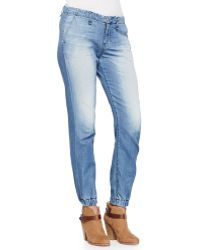 Rag & Bone Faded Denim Elastic-cuff Jeans - Lyst