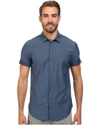 Calvin Klein Jeans Chambray Utility Shirt - Lyst