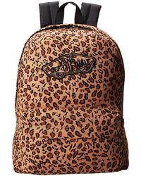 Vans Brown Realm Backpack - Lyst