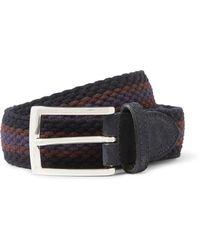 Etro 35cm Suede-trimmed Stretch-woven Belt - Lyst