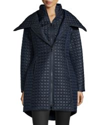 Dawn Levy - Gwen Dot Quilted High-low Coat - Lyst