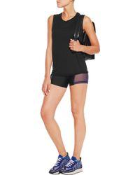 Chromat - Arc Mesh-paneled Stretch-satin Jersey Shorts - Lyst