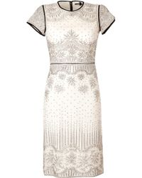 Catherine Deane Lace Overlay Dress - Lyst