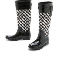 Diane von Furstenberg   Whitney Rain Boots - Black   Lyst