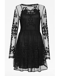 French connection Maddison Gardens Embellished Dress - Lyst
