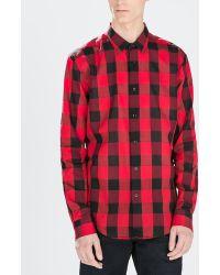 Zara Long Sleeve Checked Shirt - Lyst