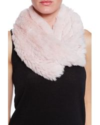 H Brand Kate Fur Scarf - Lyst