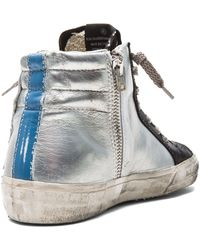 Golden Goose Deluxe Brand Slide Leather Sneakers - Lyst