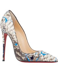 Christian Louboutin Python So Kate Pumps - Lyst