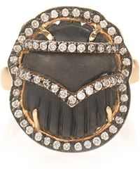 Silvia Furmanovich | Ebony Yellow-gold Ring | Lyst