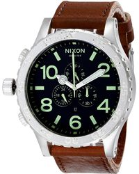 Nixon The 51-30 Chrono Leather - Lyst