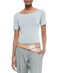 Donna Karan New York Graduated Leather Hip Belt - Lyst