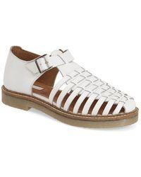 Topshop 'King' Huarache Sandal white - Lyst