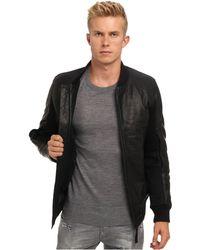 Helmut Lang Semi Gloss Leather Jacket - Lyst