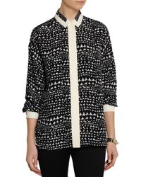 Stella McCartney Roberta Printed Silk Shirt - Lyst