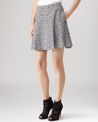 Reiss Skirt Christa Printed Silk - Lyst