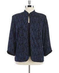 Xscape - Plus Two-Piece Glitter Jacket And Shirt Set - Lyst