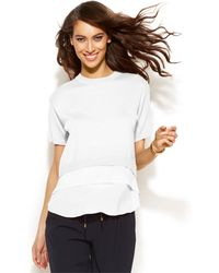 Michael Kors Michael Short-Sleeve Layered-Look Sweater - Lyst
