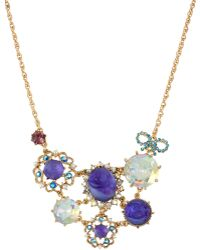 Betsey Johnson Carved Flower Necklace - Lyst