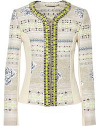 Matthew Williamson Beige Embellished Jacquard - Lyst