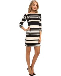 Eliza J Elbow Sleeve Striped Shift - Lyst