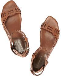 Daniele Michetti - Sui Chestnut Leather Sandals - Lyst