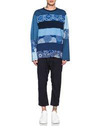 Junya Watanabe Men'S Stripe Tee blue - Lyst