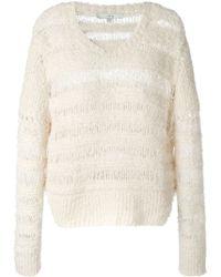 IRO Textured Knit Stripe Sweater - Lyst