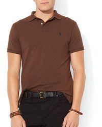 Ralph Lauren Polo Custom Mesh Polo Shirt Slim Fit - Lyst