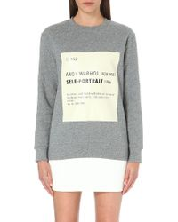 Self-Portrait - Signature Sweatshirt - Lyst
