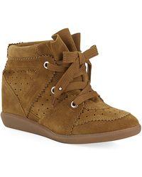 Isabel Marant Bobby Suede Wedge Sneaker - Lyst