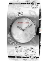 Christian Lacroix - Women's Ss Patterned Silver Tone Dial Ss - Lyst