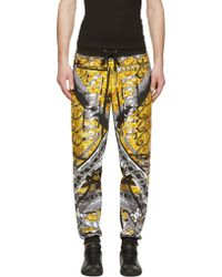Versus  Black And Gold Scarf Front Lounge Pants - Lyst