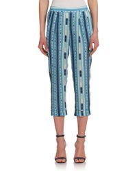 BCBGMAXAZRIA Cedric Ikat-Print Pull-On Pants blue - Lyst
