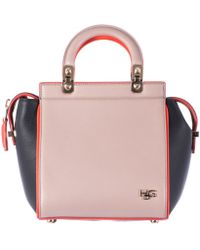 Givenchy Beige Orange And Blue Leather Mini Hdg Bag black - Lyst