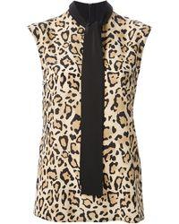 Gucci Leopard Print Blouse - Lyst